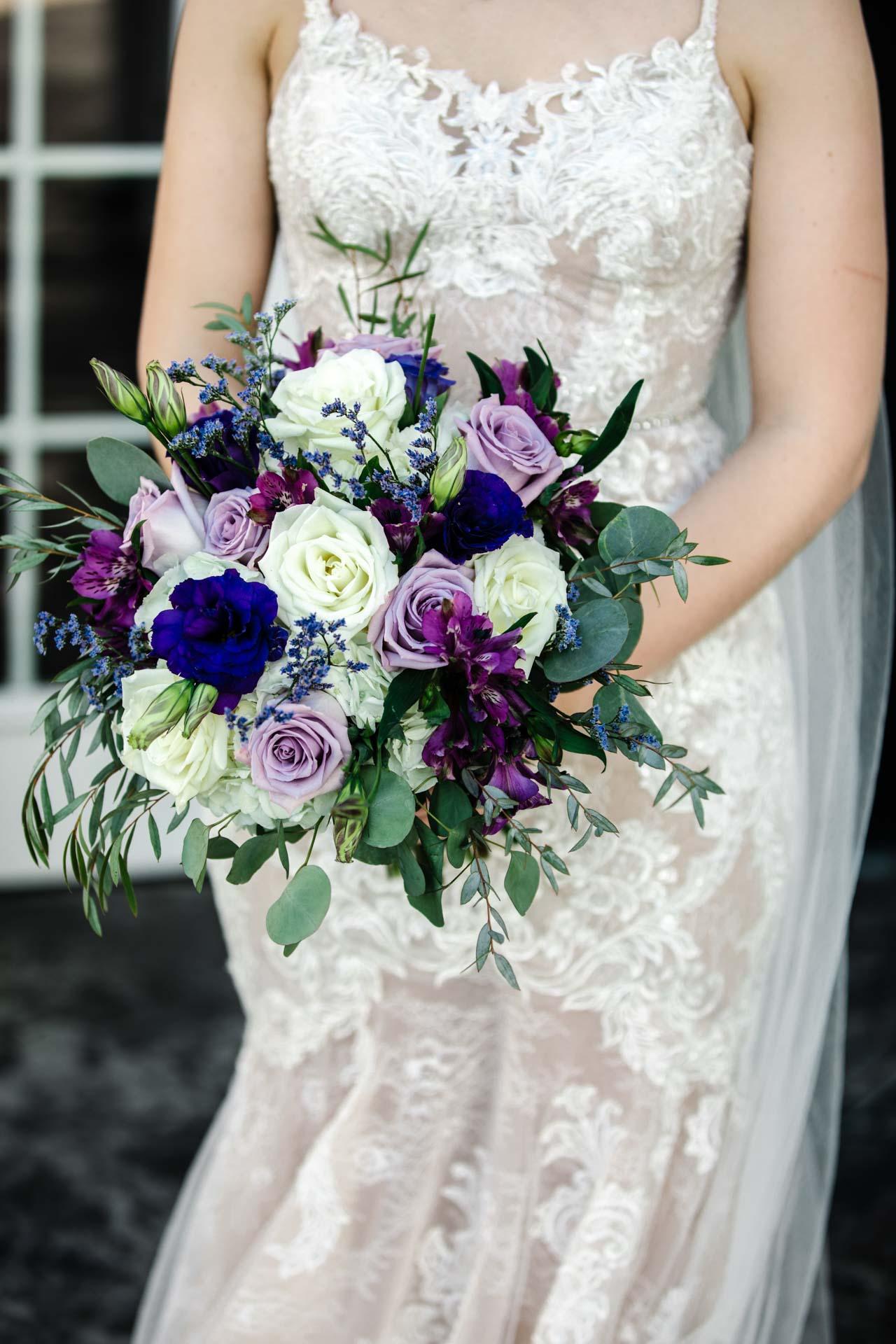 Wedding, bride, flowers, dress
